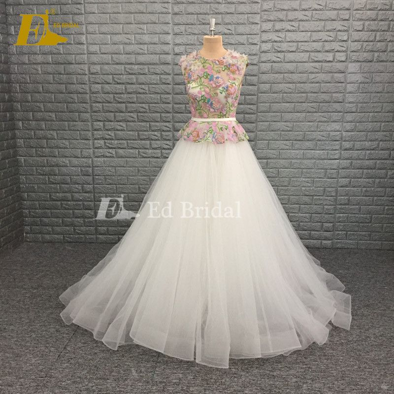 Embroidery Beading Ed Real Sample Wedding Dress Whats 008615152463038
