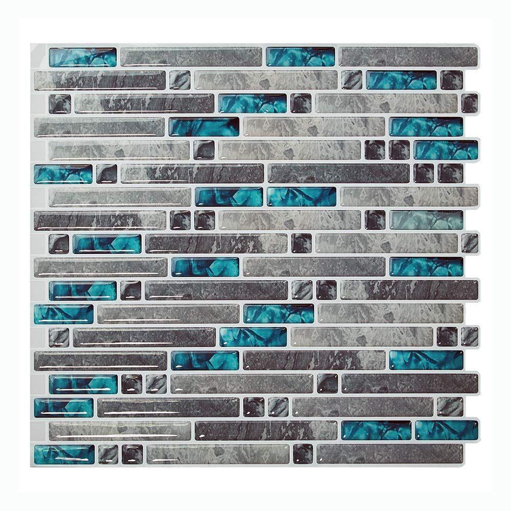 Amazon Com Cocotik Peel And Stick Tile Backsplash Self Adhesive Wall Tile For Kitchen Bathroom 3d Wall Tiles Stick On Tiles Peel And Stick Tile