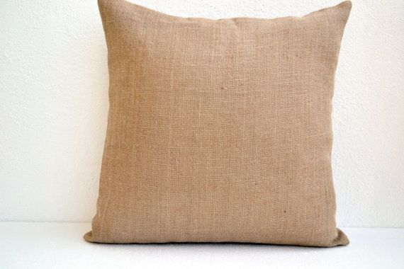 Burlap Pillow Covers Decorative Throw Pillows In Beige