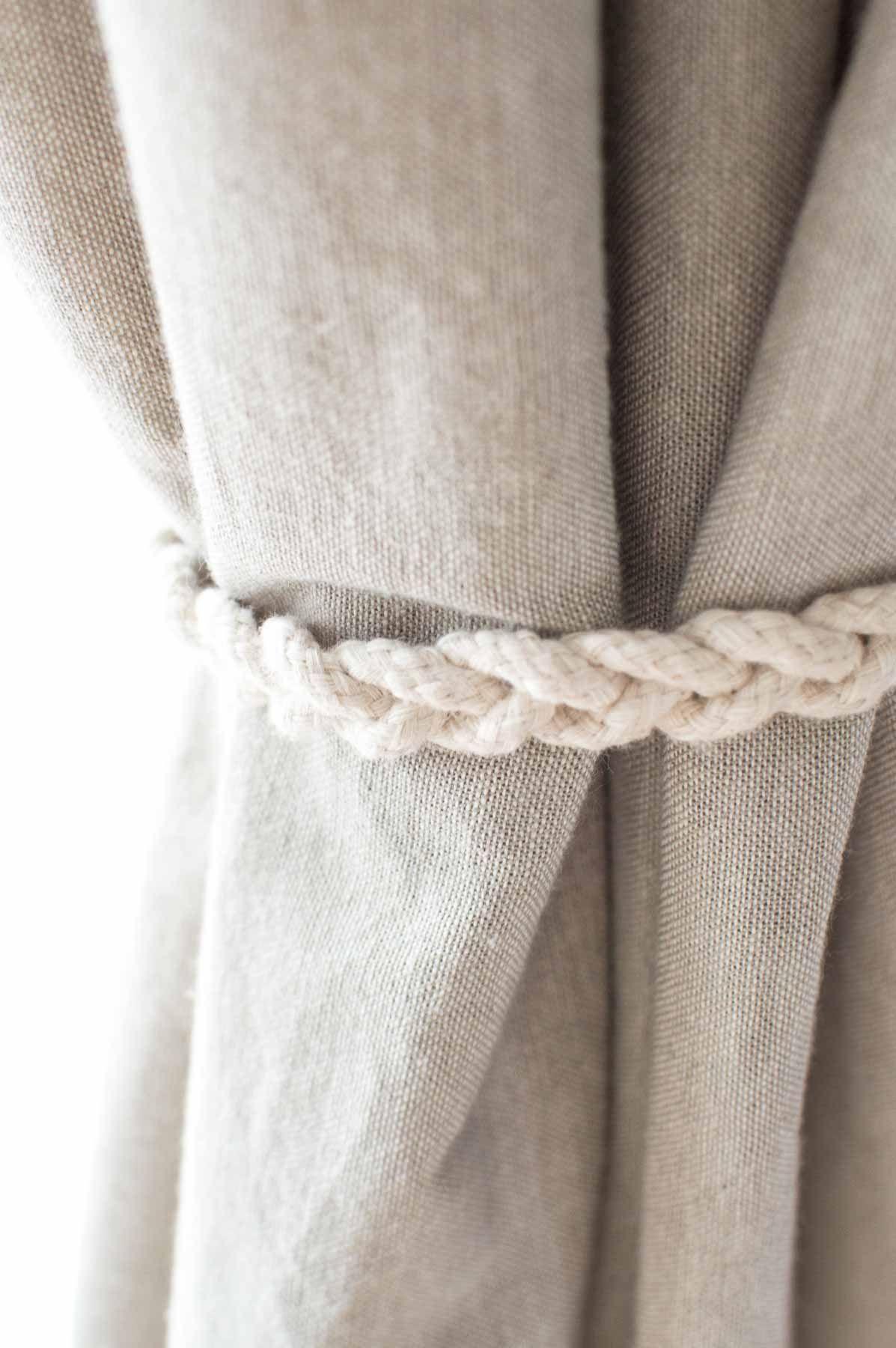 No Sew Braided Curtain Tiebacks Curtain Tie Backs Diy Curtain Tie Backs Tieback