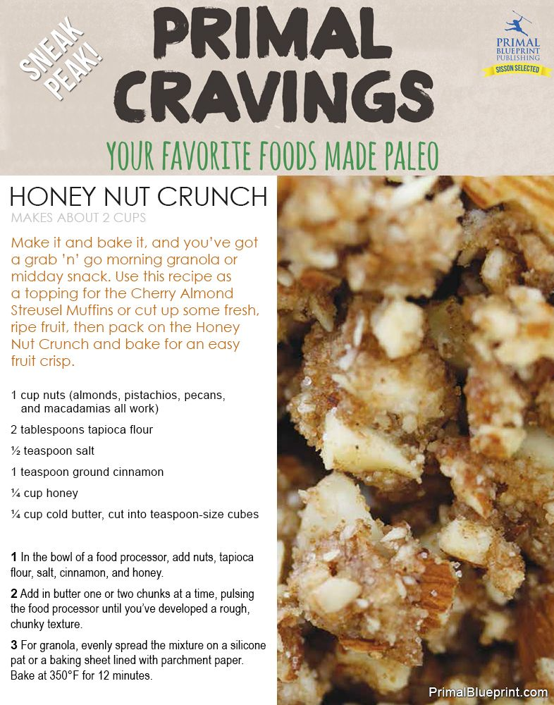 Introducing primal cravings free recipes grain free and granola replacement for your beloved granola check out this gluten and grain free recipe for honey nut crunch find this recipe and over 125 more tasty primal malvernweather Choice Image