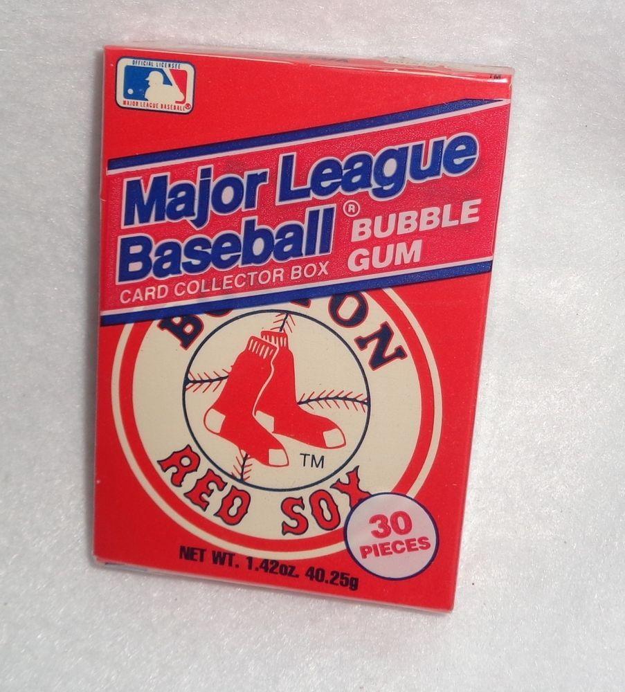 Boston Red Sox Bubble Gum Card Collector Box Bostonredsox Bubble Gum Cards Boston Red Sox Baseball Sock Bubbles