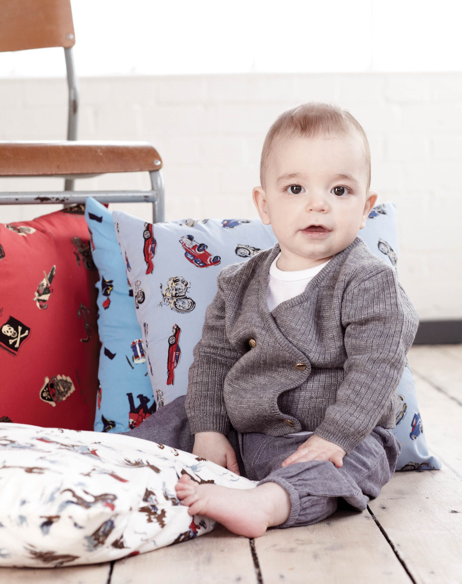 Baby Boys Double Breasted Wool Cardigan by Their Nibs London AW13