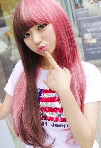 Split Hair In Brown Pink Hair Colors Newhairdontcare Haircolor Hairdye Brown And Pink Hair Half Dyed Hair Split Hair