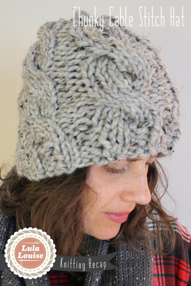Lula Louise Chunky Cable Knit Hat With Free Pattern Crochet
