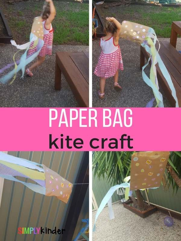 paper bag kite craft pinterest