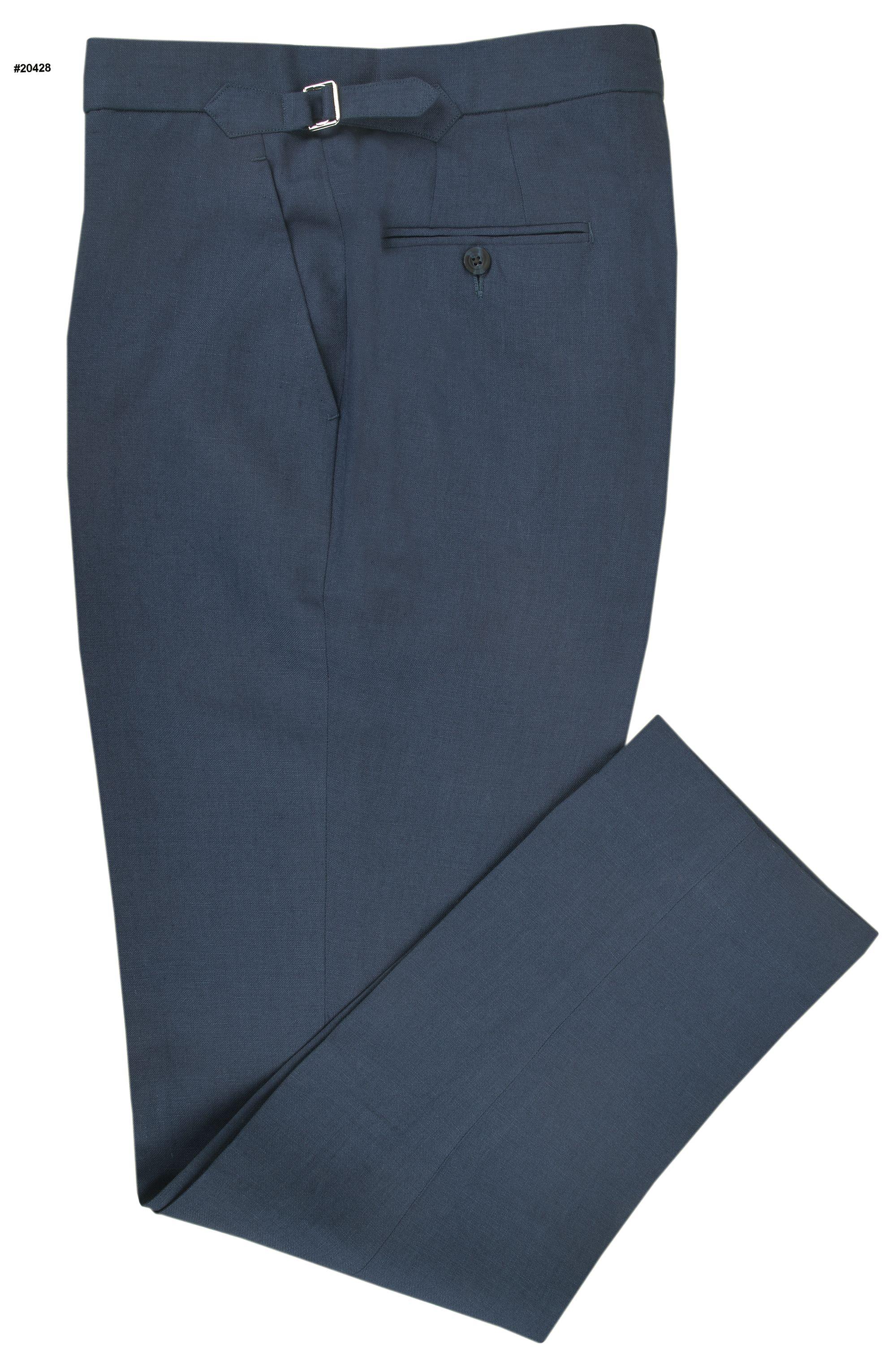 Loro Piana: Dark Blue Linen   T.Q.M.-Trousers   Pinterest ...
