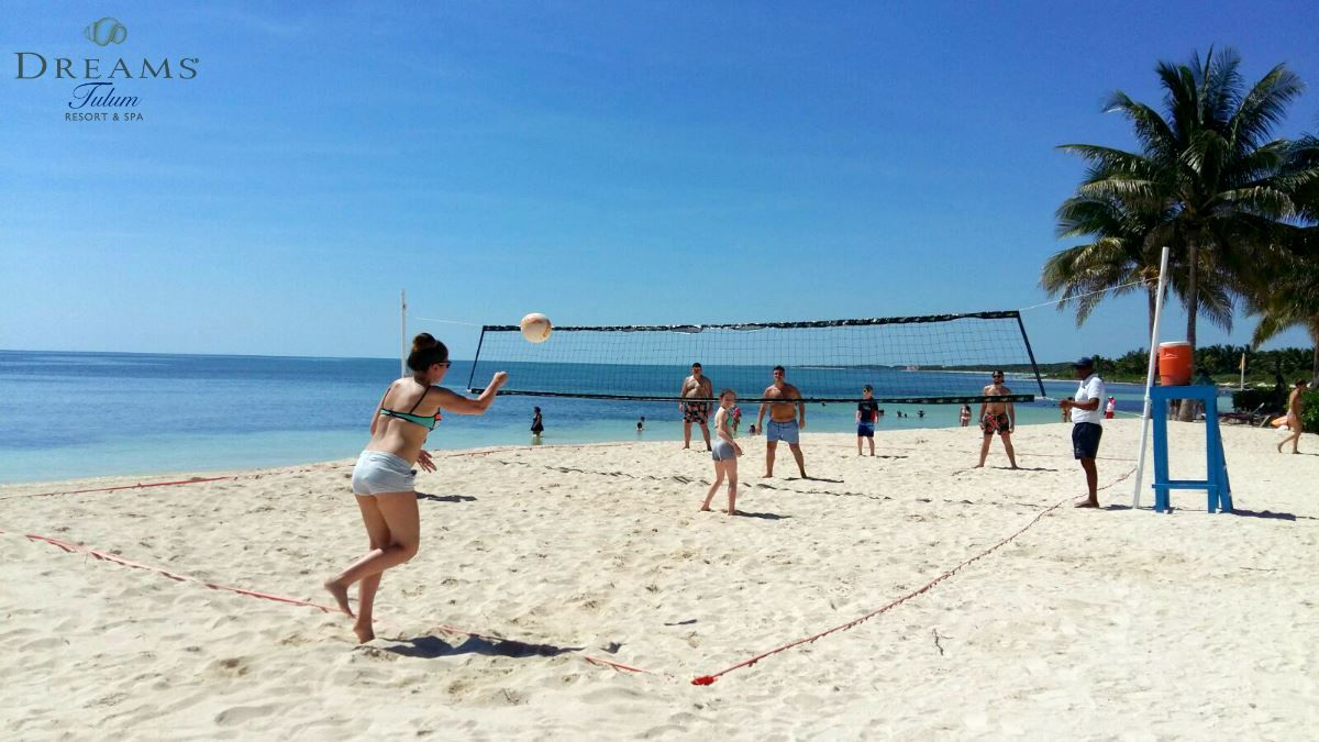 We Love Getting Together A Game Of Beach Volleyball On Our Gorgeous Beach At Dreams Tulum Resort Spa Dreams Tulum Resort Tulum Resorts Dreams Tulum