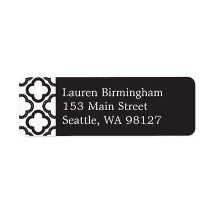 Modern Pattern Return Address Label - pattern sample design - sample address label