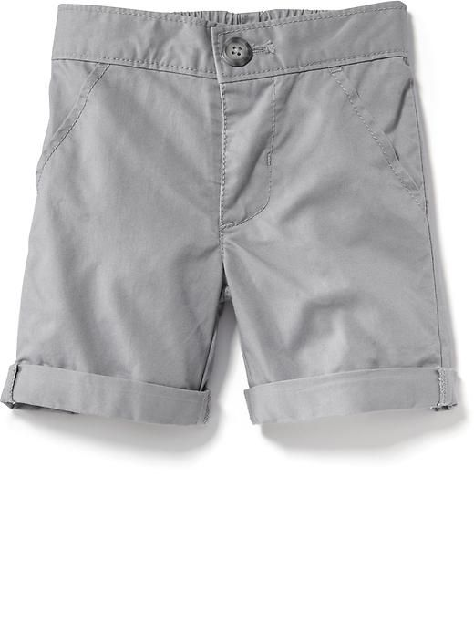 Twill Rolled-Cuff Shorts Product Image