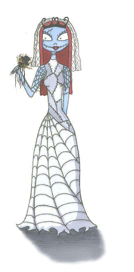 Sally In Her Wedding Dress By Irishaficionadoiantart On