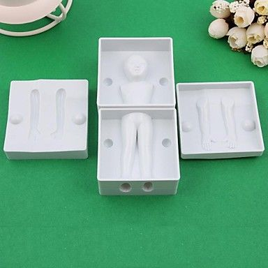 DIY 3D Fondant Cake Modelling 6PCS/Set Baby Body Shape Die Mold – USD $ 12.99