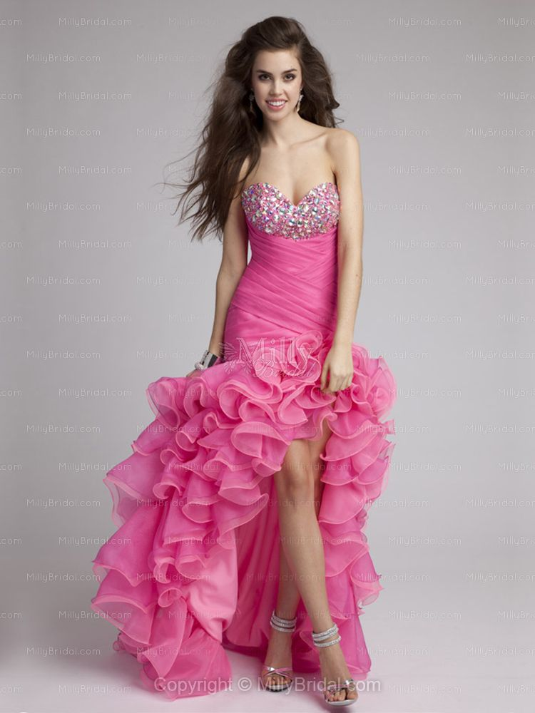 Fancy Fully Sequined Sweetheart High-Low Dress   Pretty dresses ...