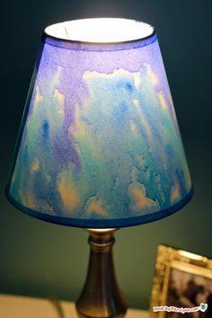 Diy Watercolor Lampshade Lamp Shades Painting Lamp Shades