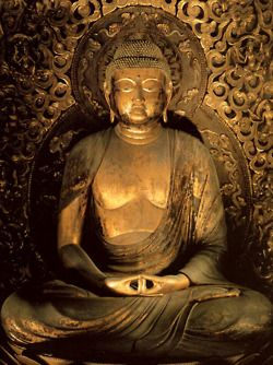 Golden Buddha with the Hand-Mudra