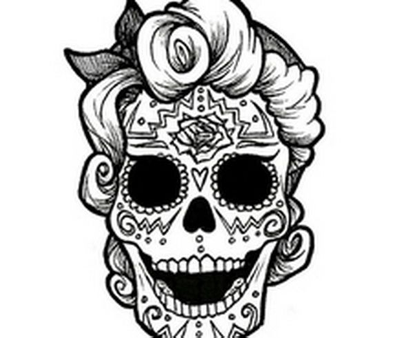 Day of the Dead Coloring and Craft Activities | Craft activities ...
