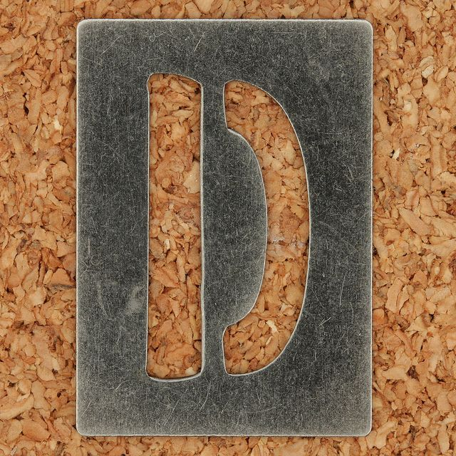 Stencil Type Letter D by Leo Reynolds, via Flickr