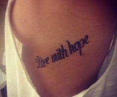 live with hope tattoo