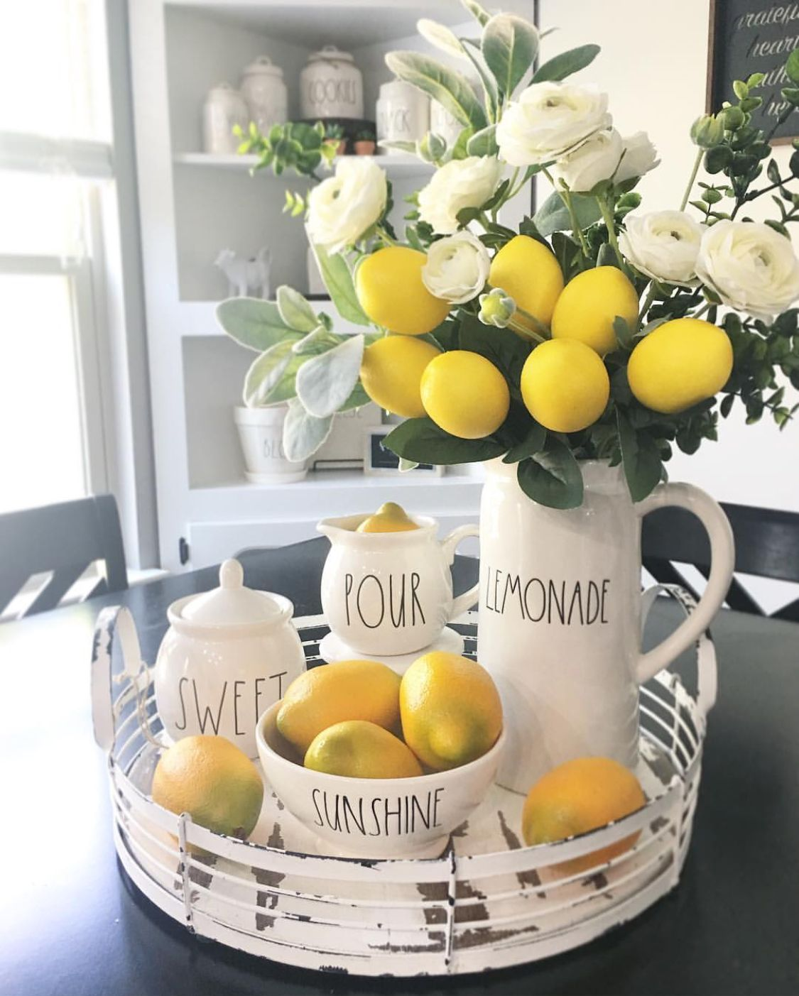 Rae Dunn lemons  Lemon kitchen decor, Lemon decor, Summer home decor