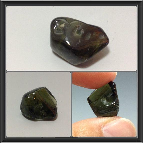4 pieces Genuine Czech Moldavite beads