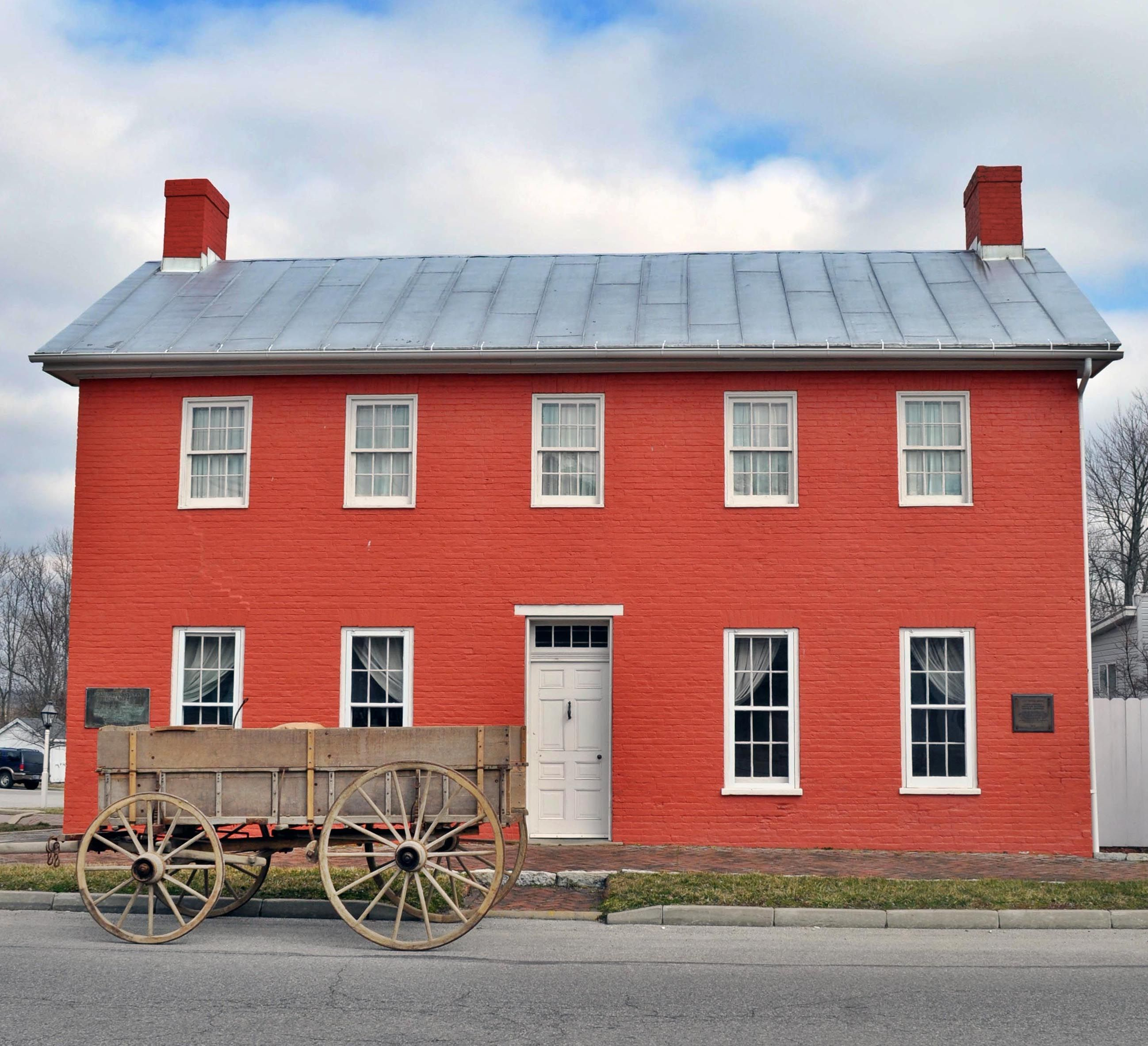built in  this eight room home of levi and catharine coffin was a safe haven for hundreds of run a way slaves on their journey to freedom: american colonial homes brandon inge