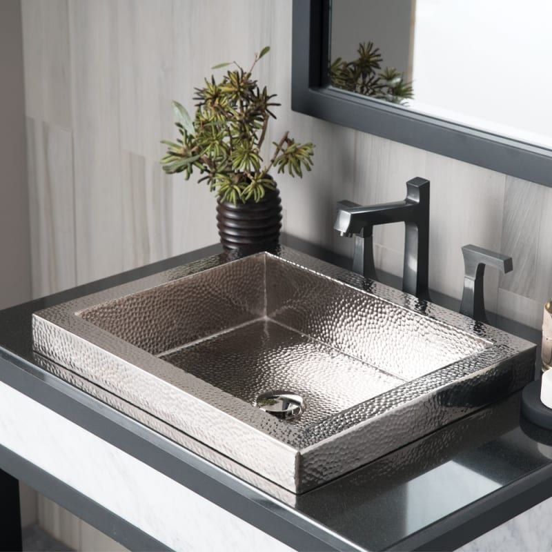 """Photo of Native Trails CPS846 Polished Nickel Tatra 17 """"Single Basin Drop In Copper Sink"""