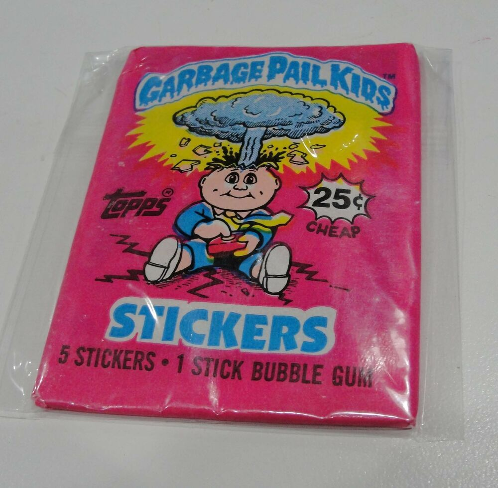 Vtg Rare 1985 Garbage Pail Kids 1st Series Unopened 1 Sealed Wax Pack 25 Cents Garbage Pail Kids Stuff To Buy Cards