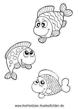 Ausmalbild Fische Ausdrucken Ausmalbilder Fische Malvorlage Fisch Ausmalbilder