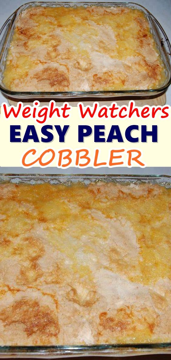 WEIGHT WATCHER EASY PEACH COBBLER images