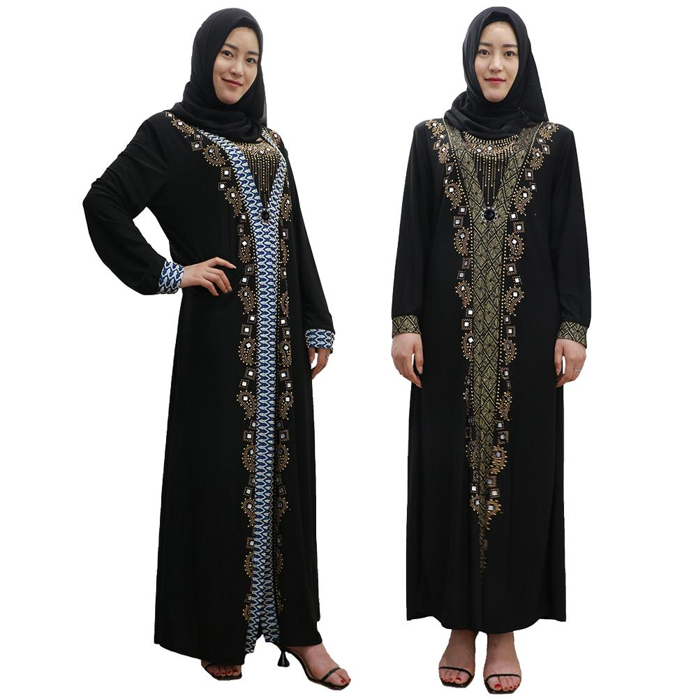 Muslim Dress Islamic Jilbab Arab Robe Dubai Kaftan Turkish Gown Caftan Ramadan
