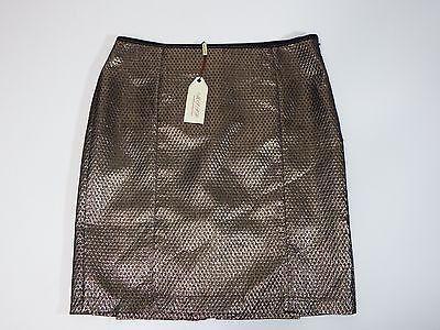 Womens Skirt Max Studio Rosaria Pencil Black & Bronze Metallic SZ 8 $78