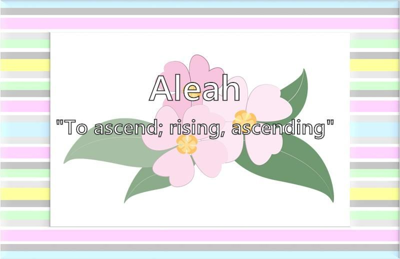 Do You Want To Know What The Name Aleah Means Girl Names