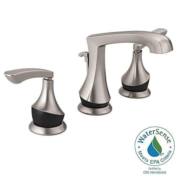 Delta Merge 8 Inch Widespread 2 Handle Bathroom Faucet In Spotshield