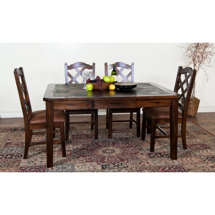 Sunny Designs Santa Fe Ext Table W Slate Top 1273dc With