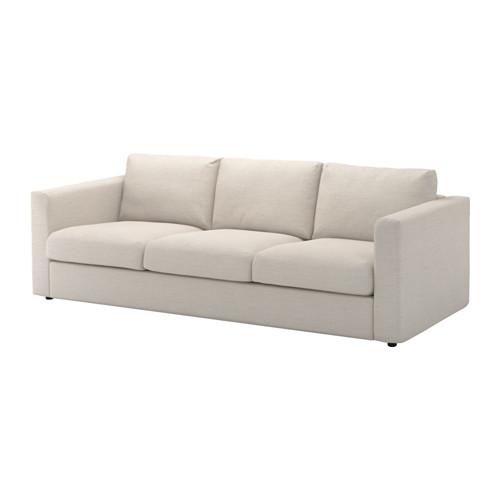 VIMLE 3:n istuttava sohva - Gunnared beige - IKEA