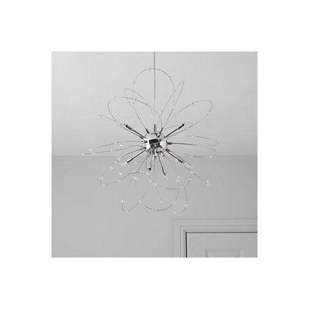 Hallie Beaded Chrome Effect 8 Lamp Pendant Ceiling Light ...