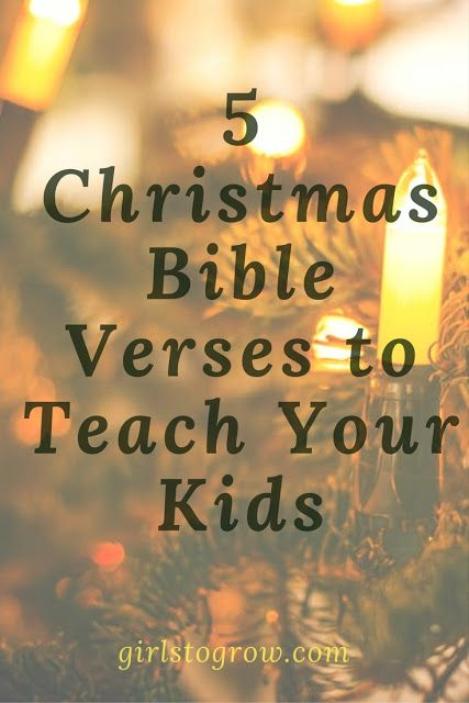 5 Christmas Bible Verses to Teach Your Kids Christmas Ideas for