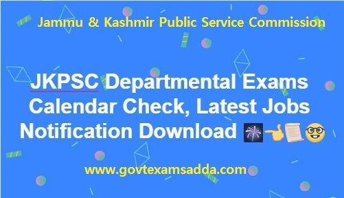 Jkpsc Departmental Exams Calendar 2018 19 Jkpsc Latest