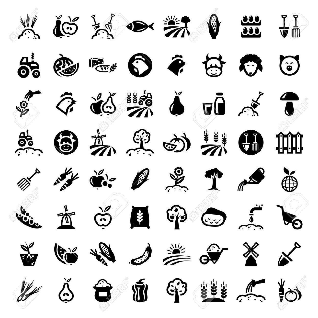 Crops Icon Google Search Crafts Set Glyph Logos Electric Circuit Symbol Element Illustration Vectorielle Libre De Big Agriculture Icons Vector 1176315 By Chistoprudnaya On Vectorstock
