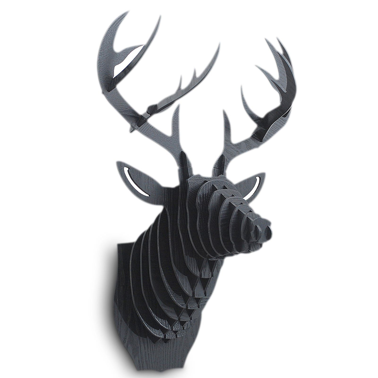 Faux Stag Head 3d Faux Deer Head Black At The Foundary Things