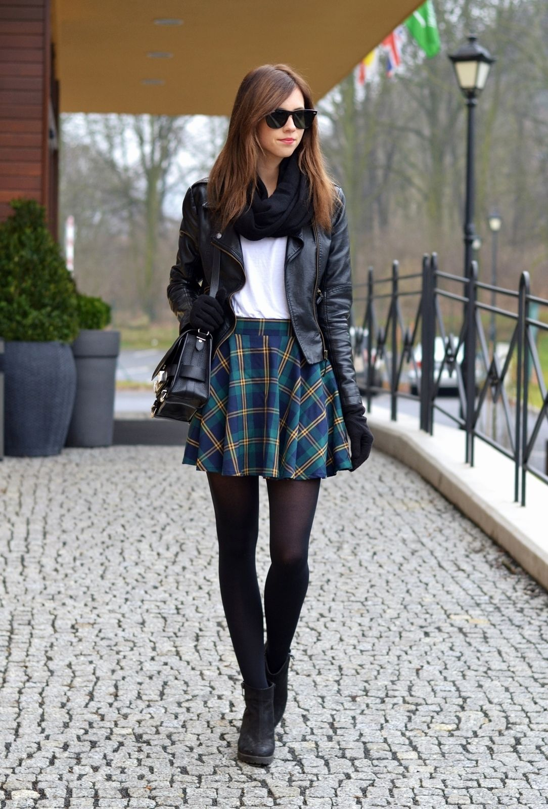plaid and leather voguehaus  fashion and style blog