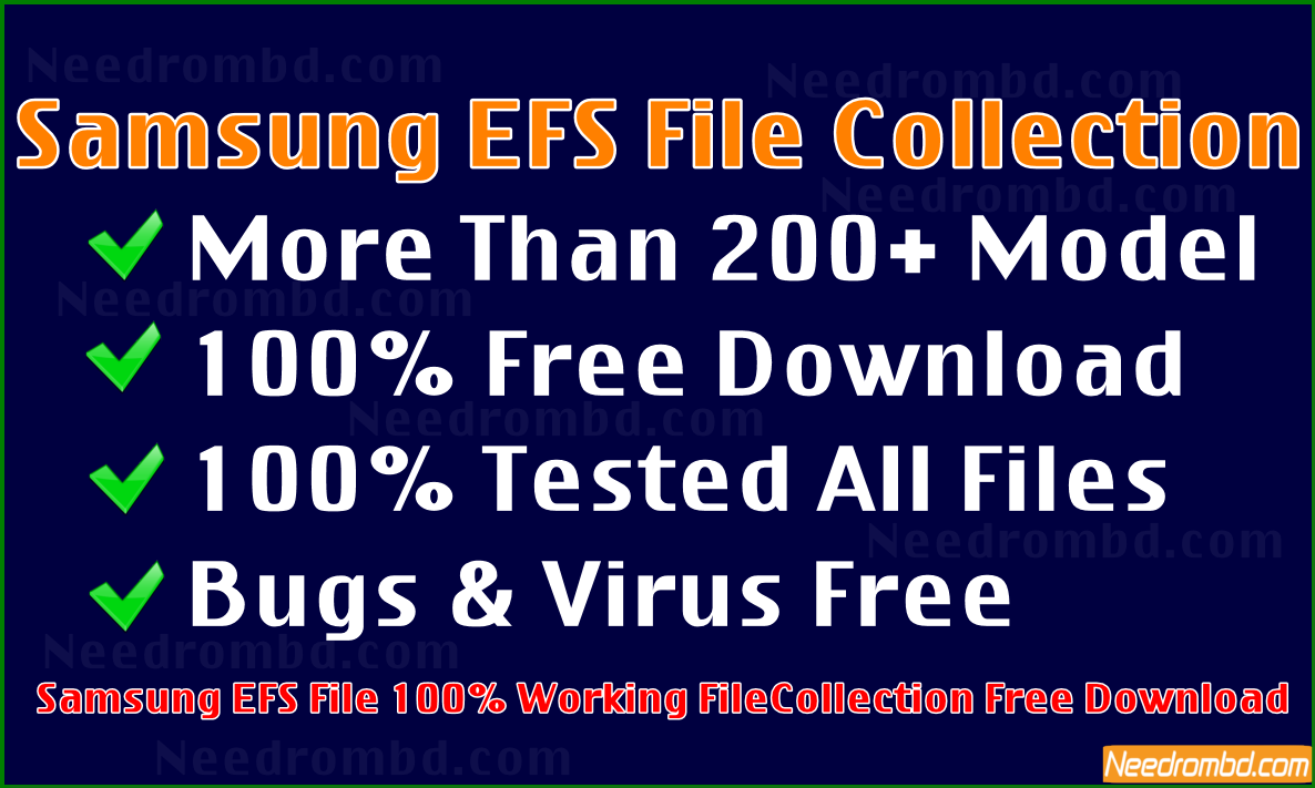 Samsung All Model EFS File Collection [FREE | Smartphone Firmware