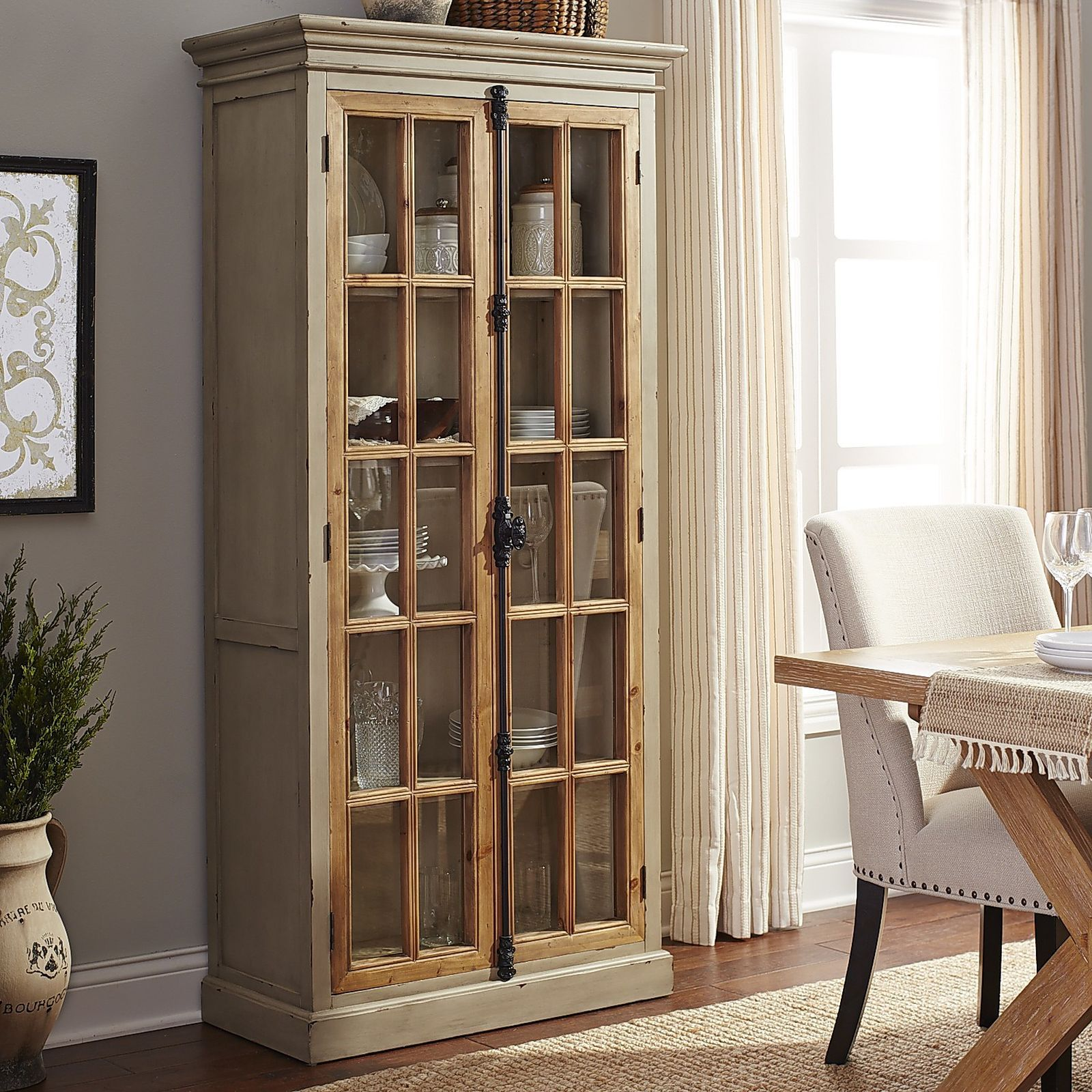 Cremone Linen Gray 72 Tall Cabinet