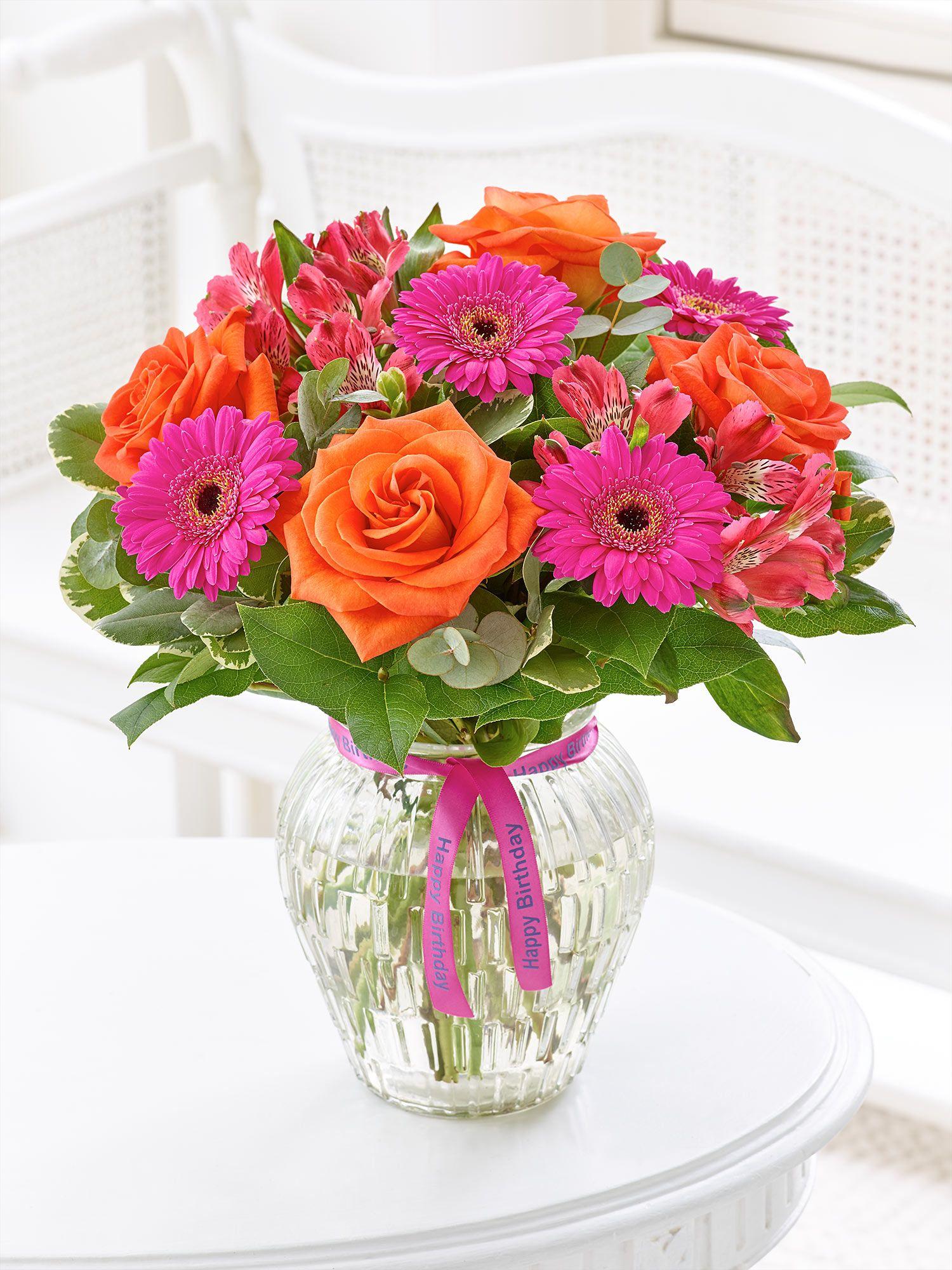 Happy birthday vibrant vase buenos deseos pinterest flowers happy birthday vibrant vase izmirmasajfo