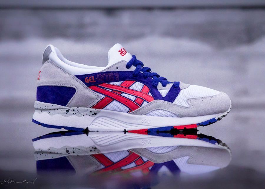 sector Pagar tributo Cambiarse de ropa  ASICS Gel-Lyte V - White/Red/Purple | Asics, Asics gel lyte, Gel lyte