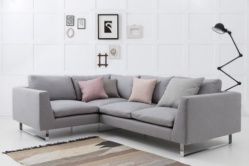 Jasper Modern Corner Sofa With Return Arm Fabric