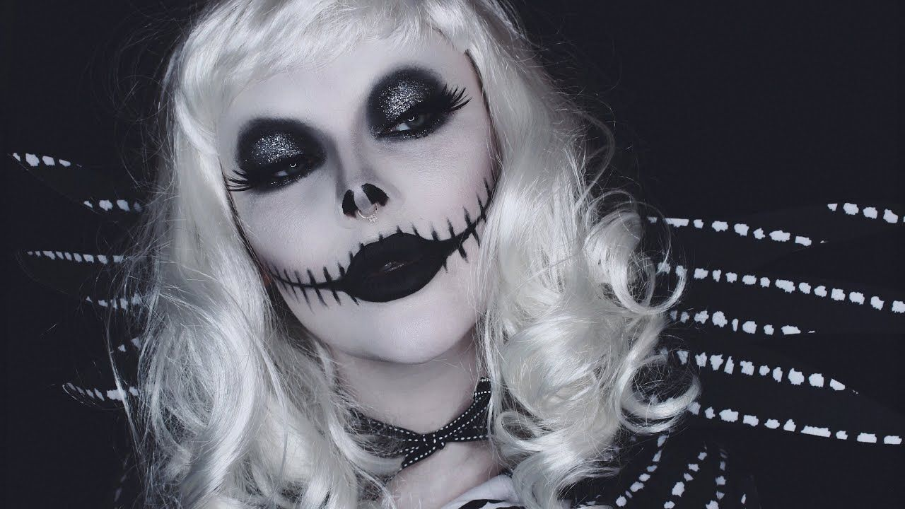 lady jack skellington makeup tutorial (With images