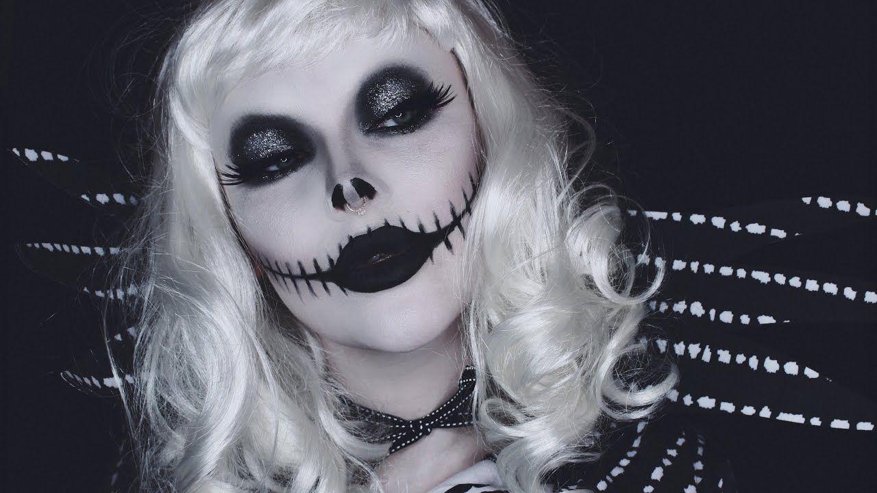 lady jack skellington makeup tutorial (With images