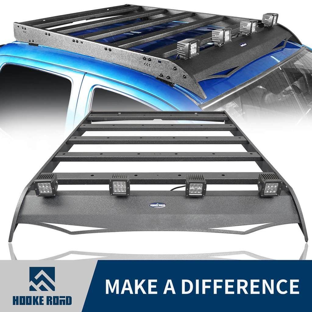 Hooke Road® Roof Rack w/LED Lights Support Shark Fin