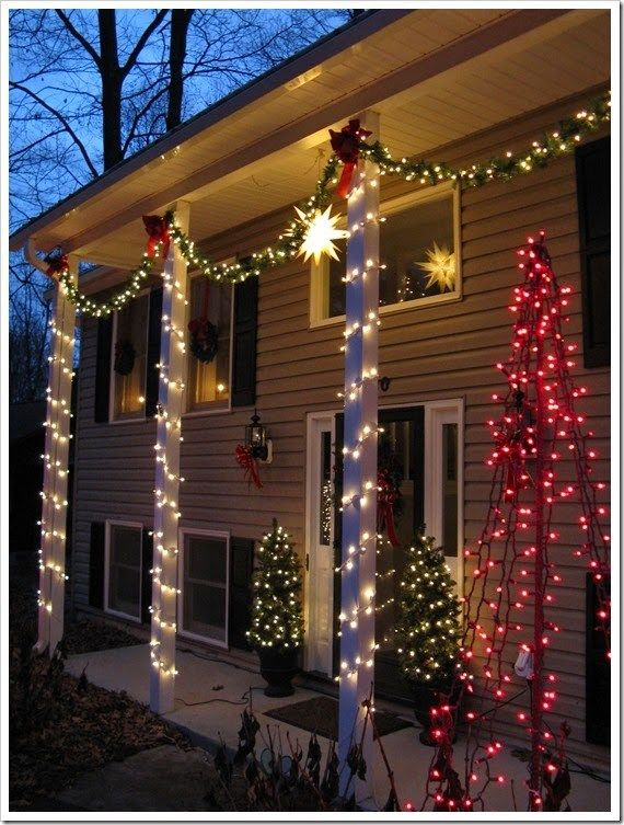Columna Navidena3 Decoracion Navidena Para Exterior Luces De Navidad Exteriores Navidad Al Aire Libre